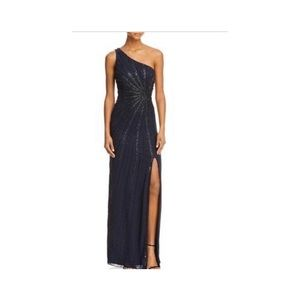 Adrianna Papell Midnight Blue, Beaded Gown